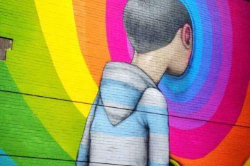 Rainbow Street Art, Montreal, Canada