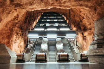 Art in the Tunnelbana Underground railway system in Stockholm, Sweden