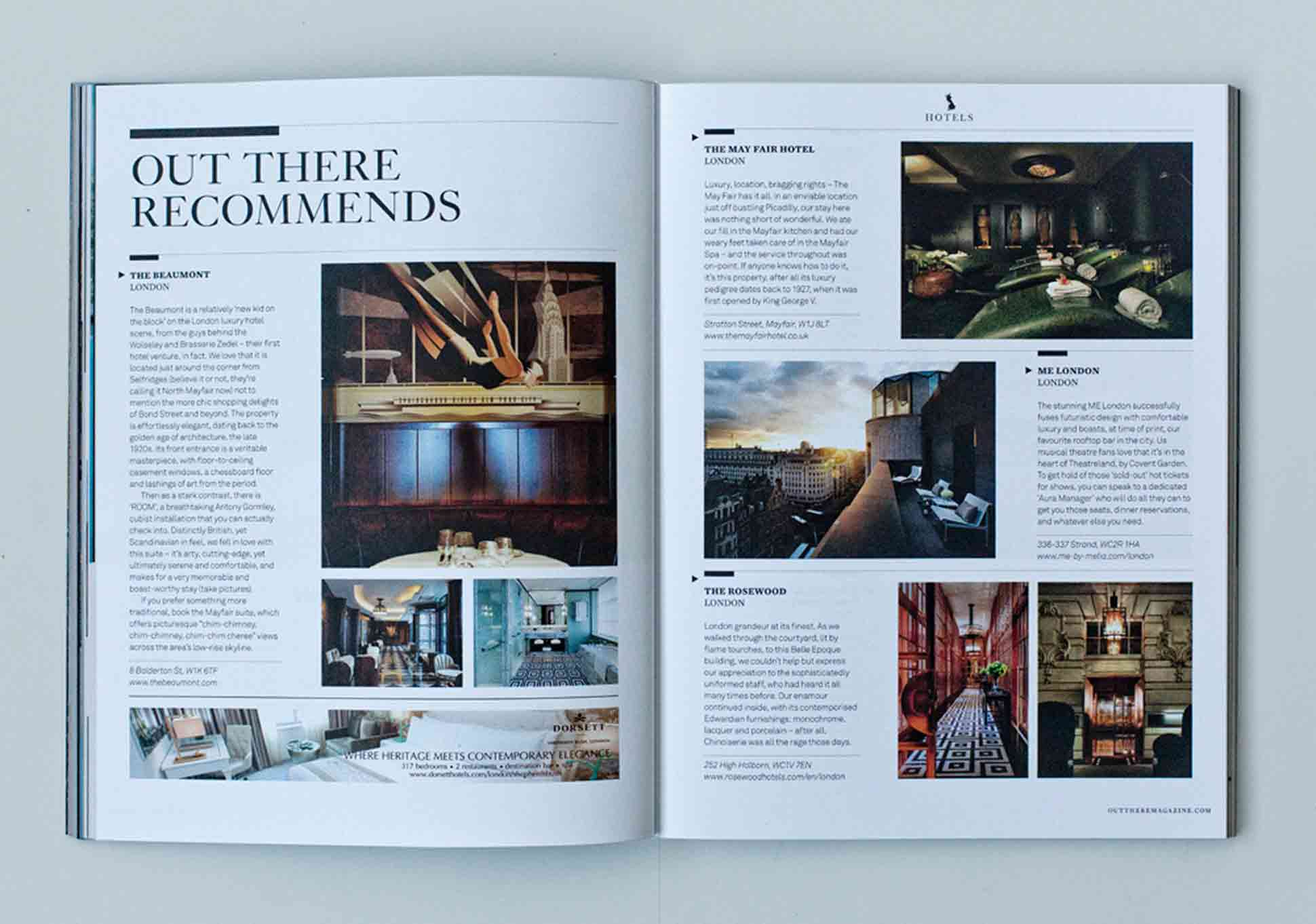 OutThere/Travel Great British Issue preview - Hotels Beaumont, ME London, Rosewood