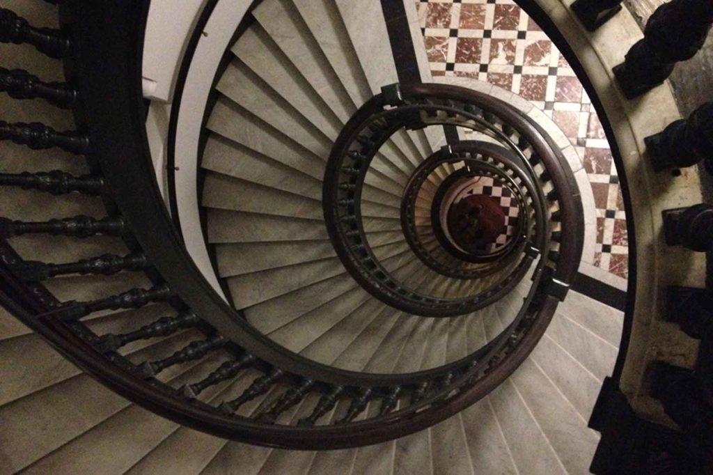Nobis Stockholm spiral staircase