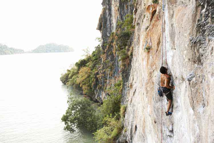 Climbing in Railay Thailand