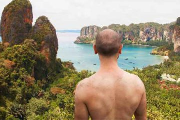 Zack Cahill goes climbing in Railay, Thailand