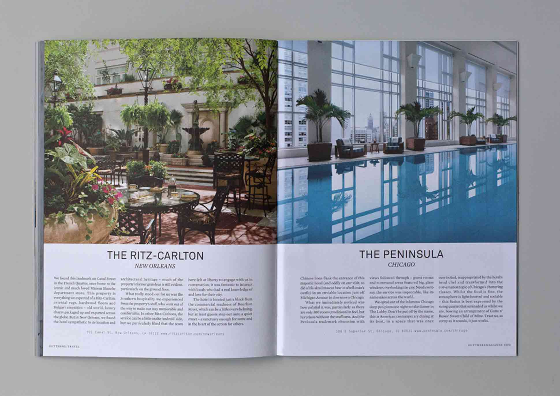 Out There Travel Sophisticated Stockholm Issue - Ritz Carlton New Orleans, Peninsula Chicago