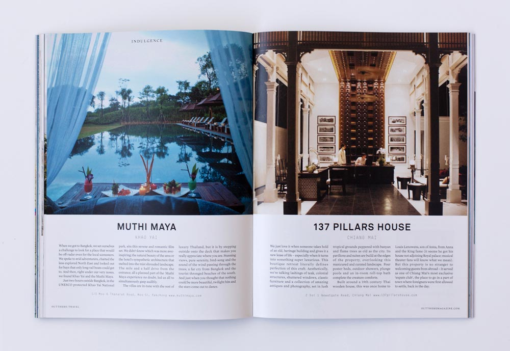 Out There Travel Amazing Thailand Issue - Muthi Maya, 137 Pillars House