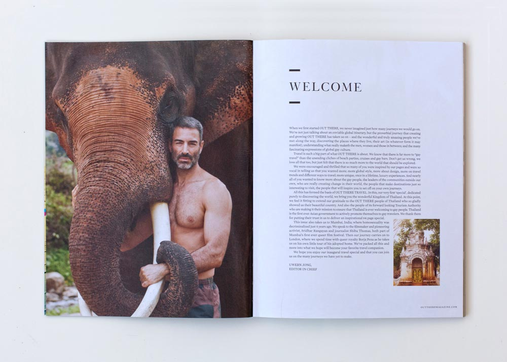 Out There Travel Amazing Thailand Issue - Rod Mabin at Patara Elephant Camp
