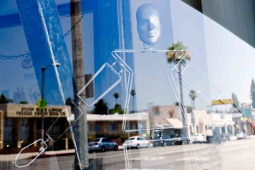 Swingers window in West Hollywood, California, USA