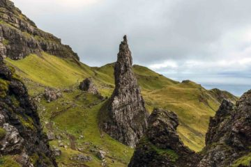 Rock formation on the Isle of Skye, Scotland
