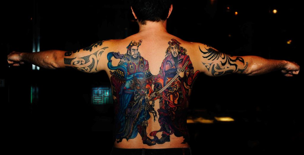 Tattoo of Chinese Gods