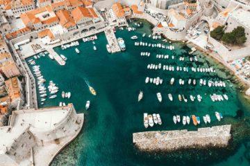 The harbour of Dubrovnik, Croatia