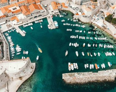 The harbour of Dubrovnik, Croatia