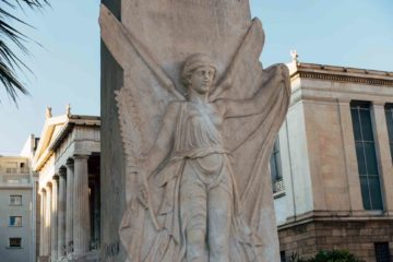 A statue in Athens, Greece