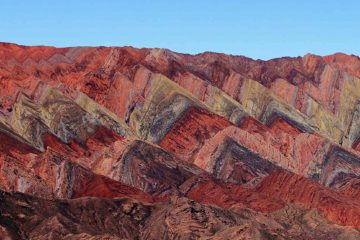 The red mountains of Jujuy, Argentina