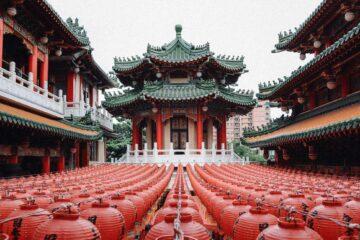 Taoist temple in Taipei, Taiwan