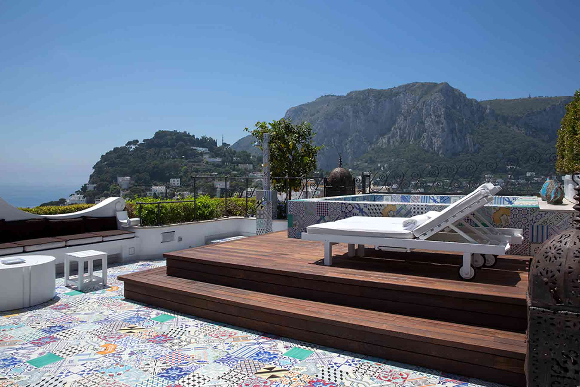 View from the Bellevue Suite at the Capri Tiberio Palace