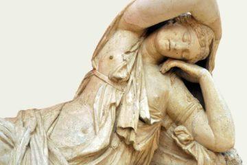 Sculpture on display in Madrid, Spain