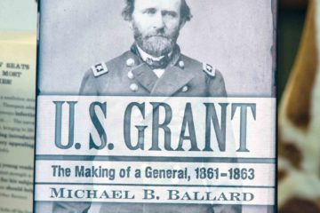 Book on Ulysses S Grant on display in Galena, Illinois, USA