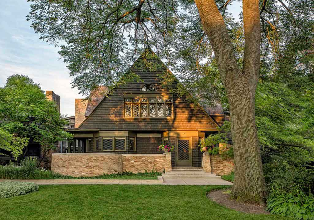 Frank Lloyd Wright House and Studio. Photography courtesy of Enjoy Illinois
