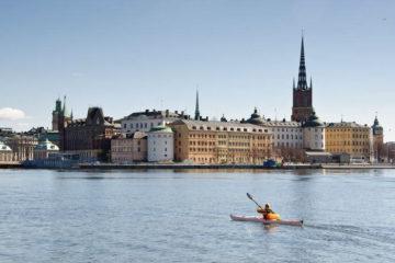 Kayaking in Stockholm, Sweden
