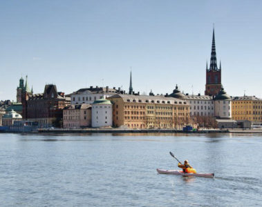 Kayaking in Stockholm, Sweden
