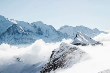 The French Alps in Courchevel, France