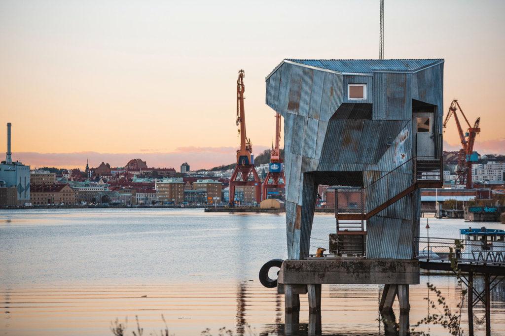 Sauna at Frihamnen, Gothenburg, Sweden