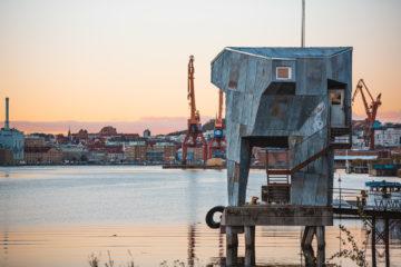 The sauna at Frihmanen in Gothenburg, Sweden