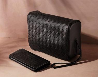 Bottega Veneta Intrecciato Leather Washbag and Intrecciato Leather Travel Wallet