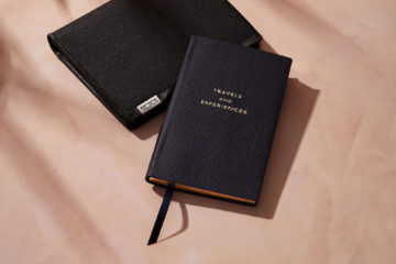TUMI Alpha ID Lock Passport Case and Smythson Travels and Experience Panama Notebook
