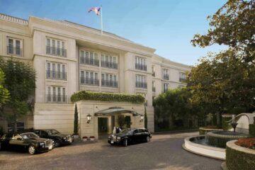 Entrance of The Peninsula Beverly Hills, California, USA