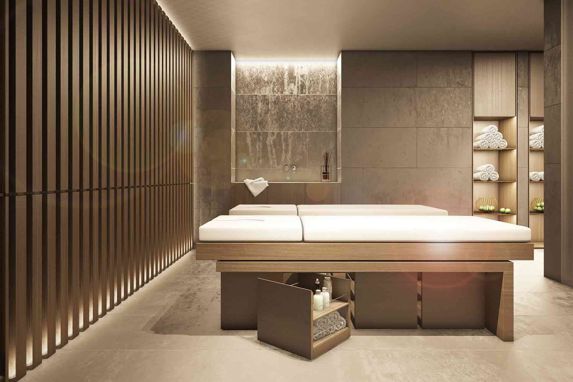 The spa at Le Massif Courmayeur, Italy