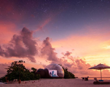 Seaside Finolhu launches romantic beach bubble package