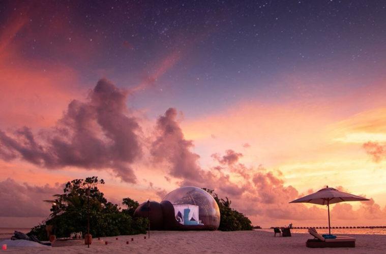 Seaside Finolhu launches romantic beach bubble package