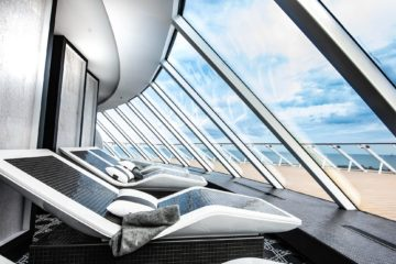Celebrity Edge cruise ship in the Mediterranean Sea