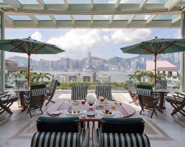 View from The Peninsula Hong Kong, China