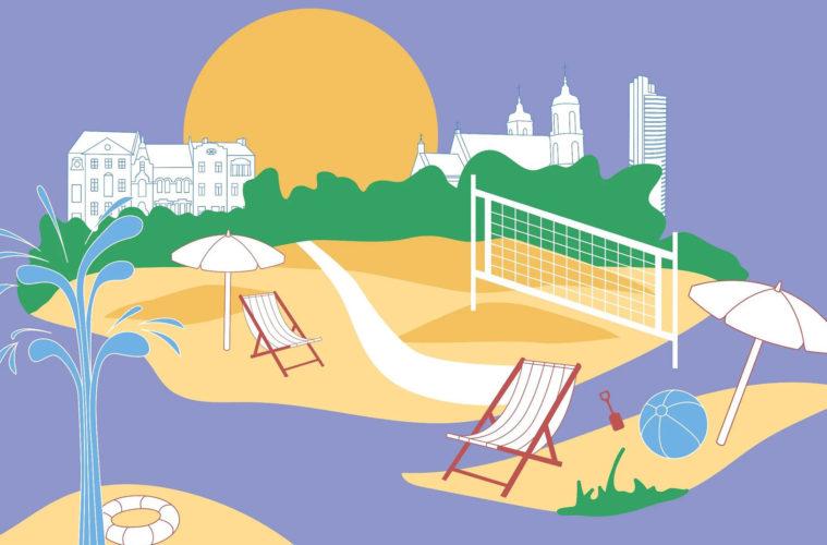 Vilnius installs beach into city square