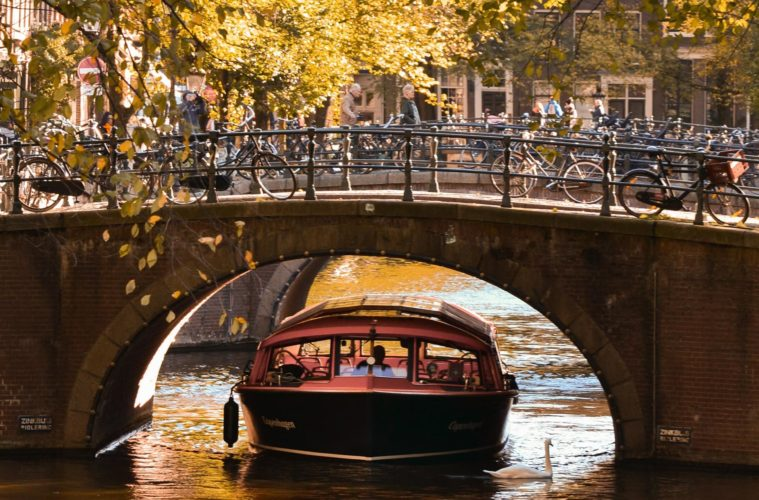 Amsterdam, where you can now have socially distanced dining on a boat, if you stay at the Sofitel Legend The Grand