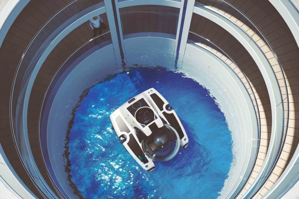 Moon pool Feadship Escape Superyacht
