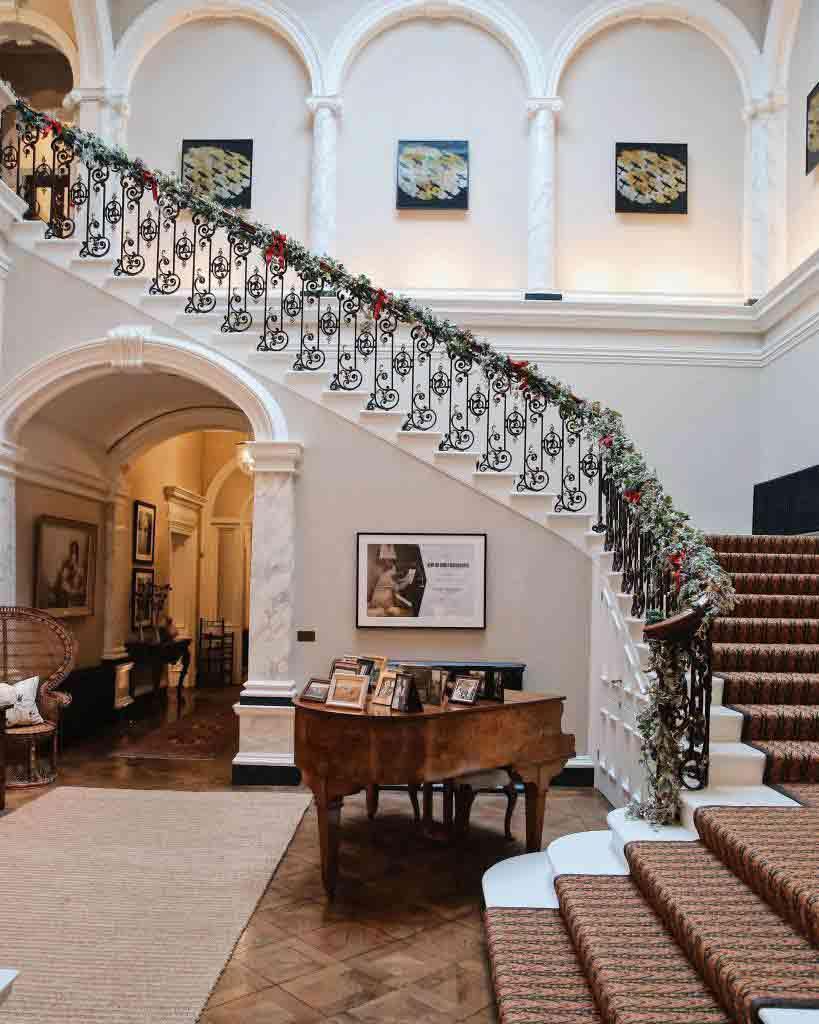 The lobby at Beaverbrook Hotel & Spa, Surrey, United Kingdom