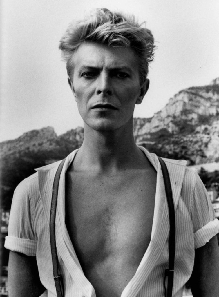 David Bowie portrait shot by Helmut Newton, Zebra One Gallery, London