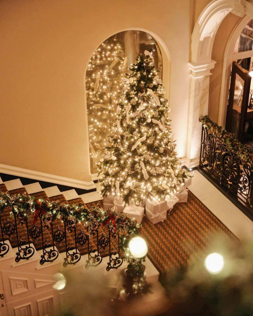 Christmas tree at Beaverbrook Hotel & Spa, Surrey, United Kingdom