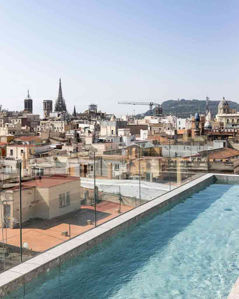 The rooftop pool at Yurbban Passage Hotel & Spa, Barcelona, Spain