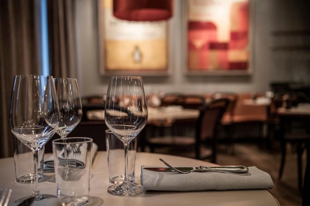Dinner is served at The Hills restaurant in Stockholm, Sweden,