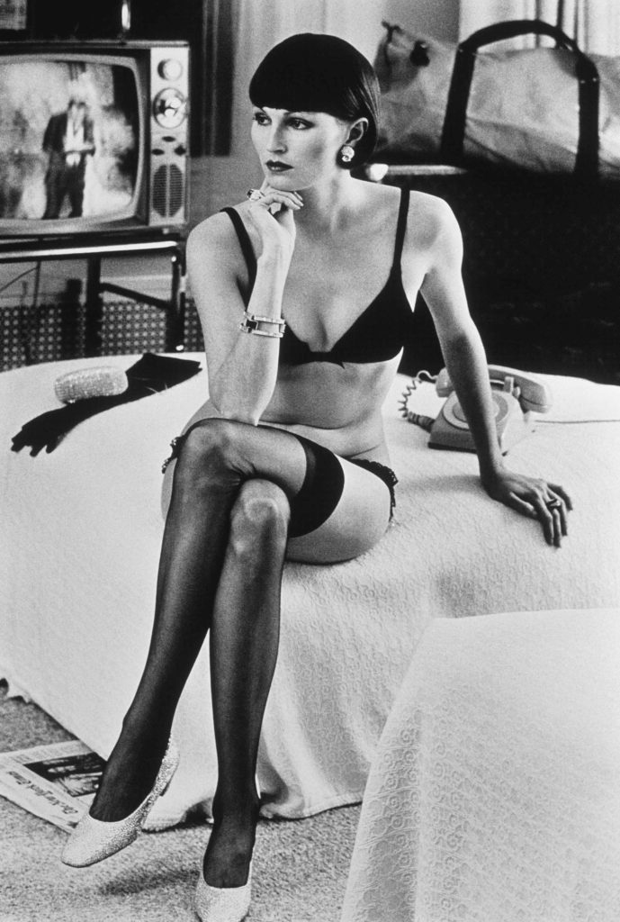 Model photographed by Helmut Newton, Zebra One Gallery, London