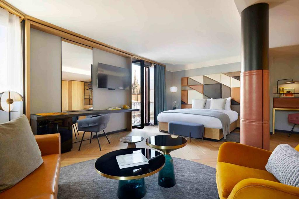 The junior suite at the Kimpton Vividora Hotel, Barcelona, Spain