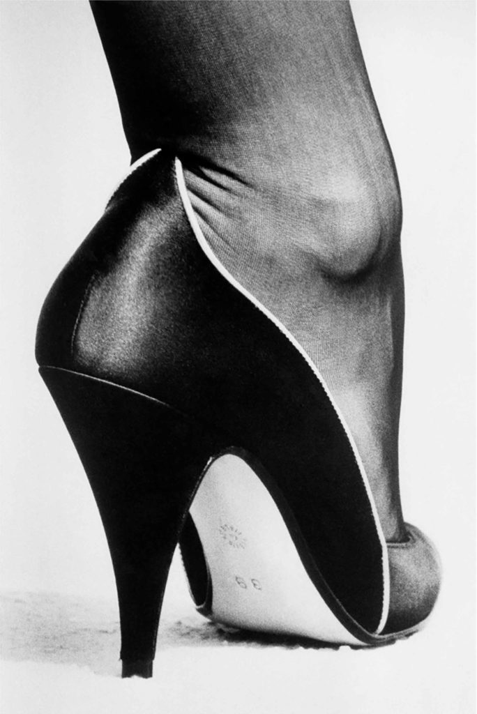 Shoe photographed by Helmut Newton, Zebra One Gallery, London