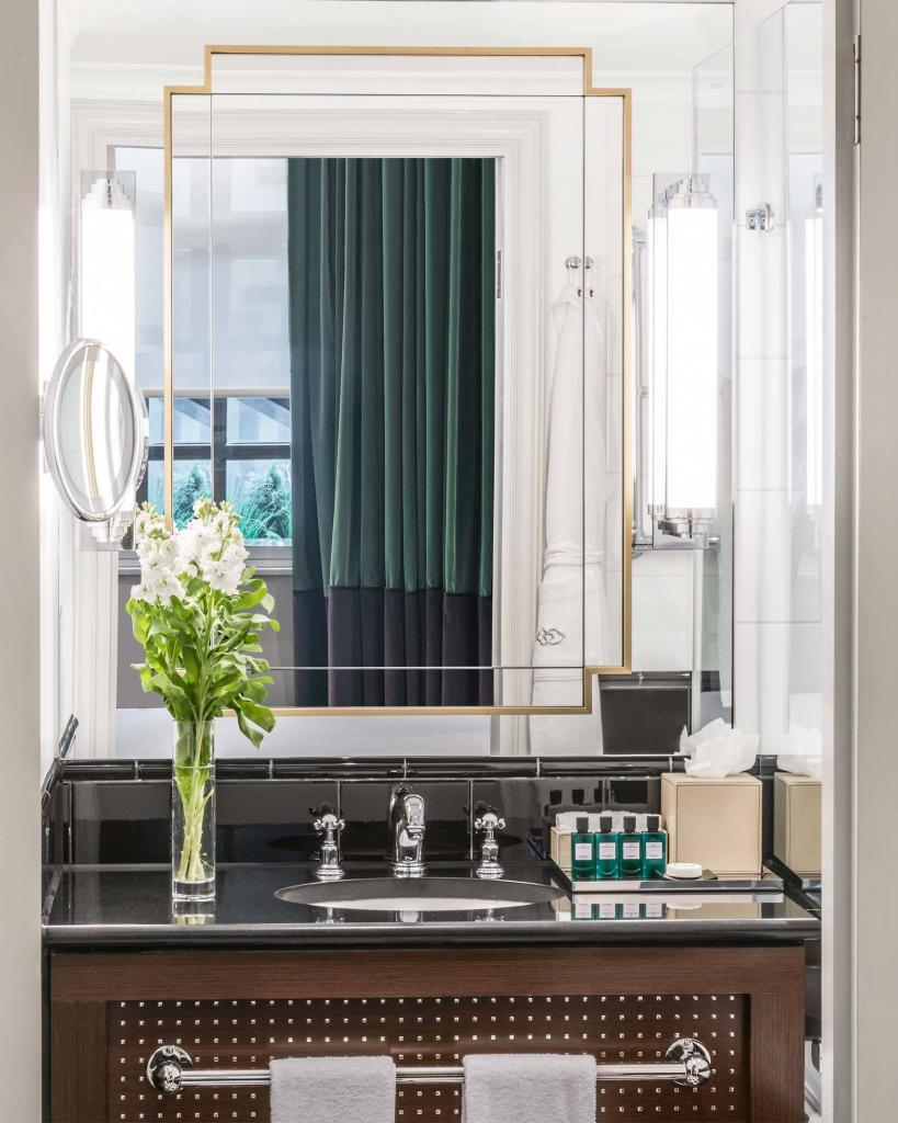 The bathroom of our Premium Luxury Room at Sofitel London St James, London, United Kingdom