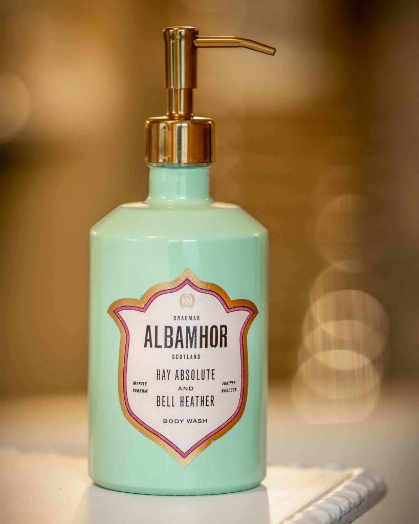 Albamhor botanical body care, available from The online shop of the Fife Arms, Braemar, Scotland