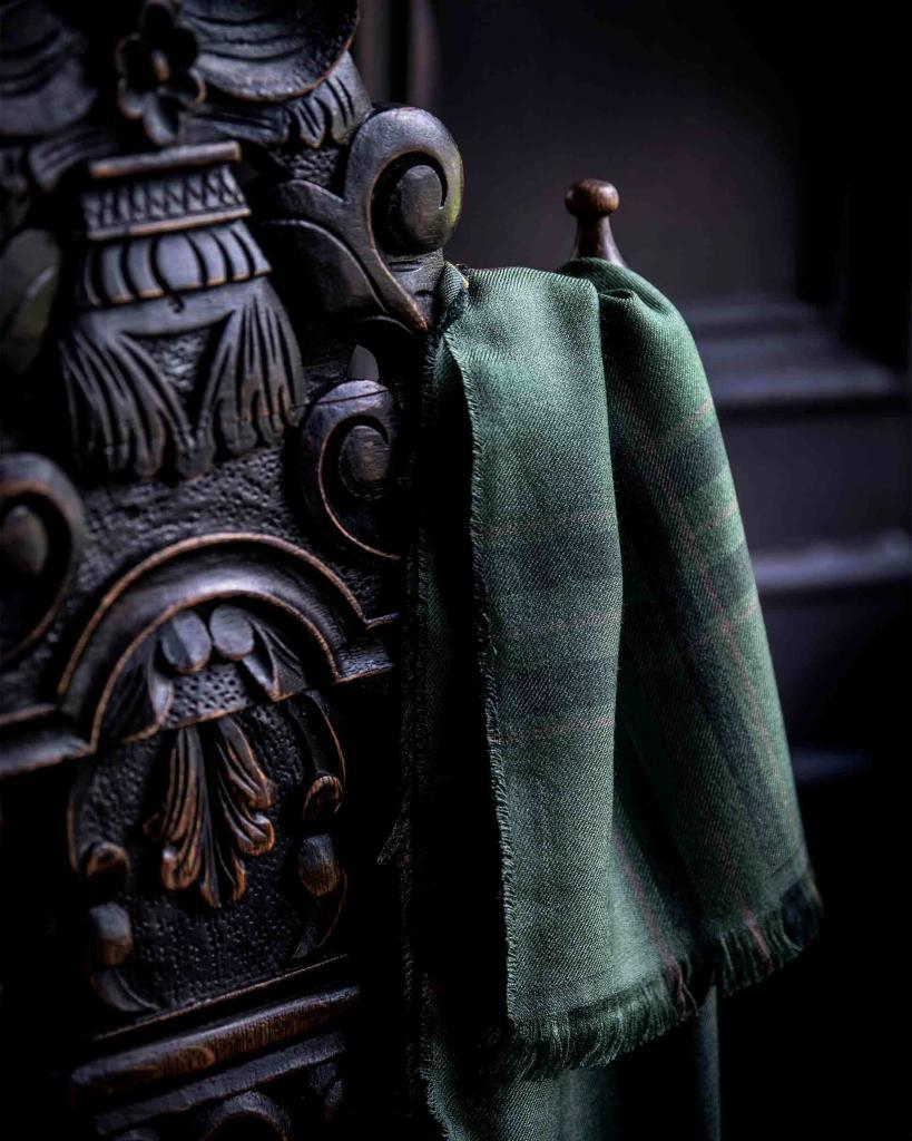 Tweed scarf, available from the online shop of the Fife Arms, Braemar, Scotland