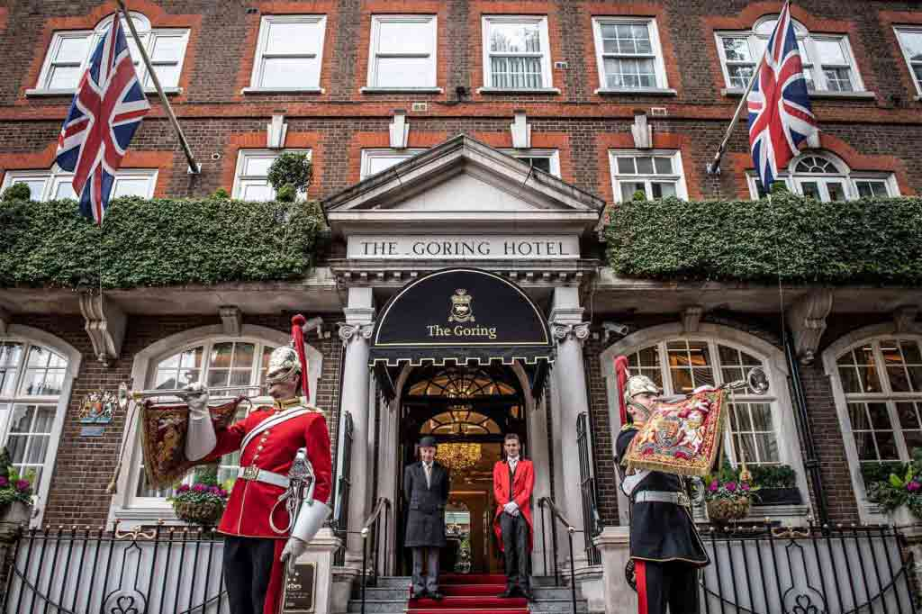 The entrance at The Goring, London, United Kingdom