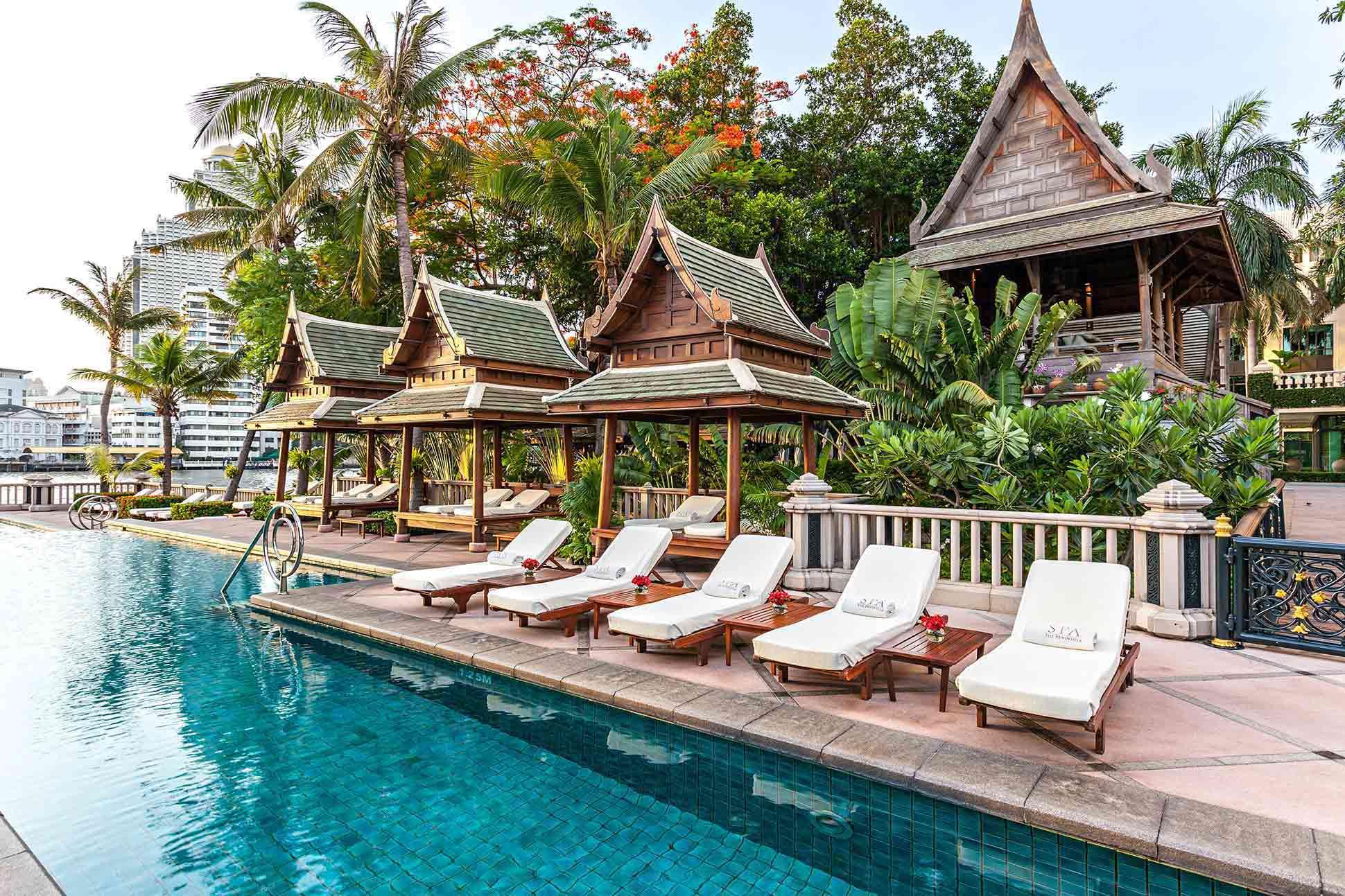 Poolside at The Peninsula Bangkok